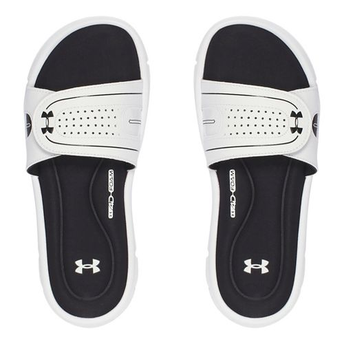 Womens Under Armour Ignite Vlll SL Sandals Shoe - Black/Red 8