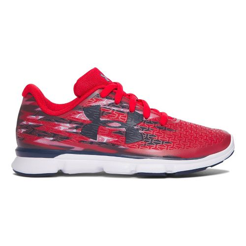 Under Armour Clutchfit Rebelspeed GR  Running Shoe - Red/White 3Y
