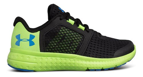Kids Under Armour Micro G Fuel RN Running Shoe - Black/Lime 12C