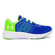 Kids Under Armour Micro G Fuel RN Running Shoe - Black/Lime 3Y