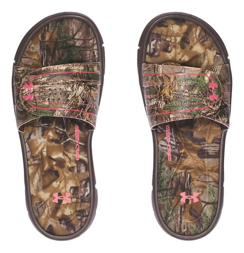 Womens Under Armour  Ignite Camo VIII SL Sandals Shoe - Cleveland Brown 7