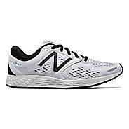 Mens New Balance Fresh Foam Zante v3 Breathe Running Shoe - White/Black 11.5