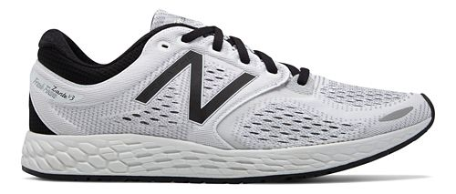 Mens New Balance Fresh Foam Zante v3 Breathe Running Shoe - White/Black 10.5