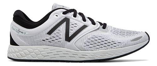 Mens New Balance Fresh Foam Zante v3 Breathe Running Shoe - White/Black 9.5