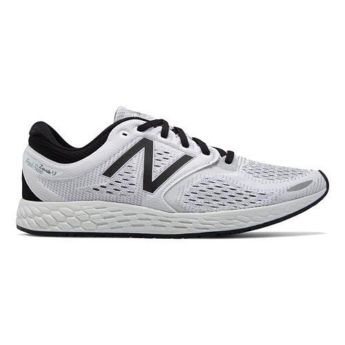 Mens New Balance Fresh Foam Zante v3 Breathe Running Shoe - White/Black 12.5