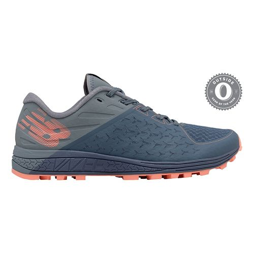 Womens New Balance Vazee Summit v2 Trail Running Shoe - Grey Blue/Coral 10.5