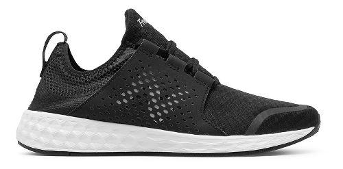 Mens New Balance Fresh Foam Cruz v1 Running Shoe - Black/White 9