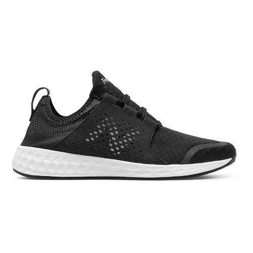 Mens New Balance Fresh Foam Cruz v1 Running Shoe - Black/White 9.5