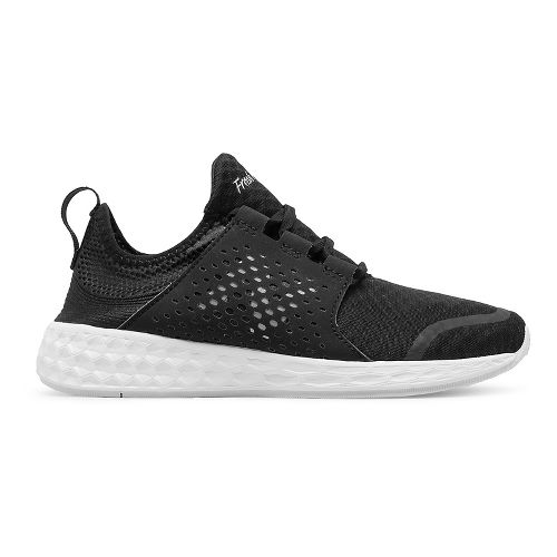 Womens New Balance Fresh Foam Cruz v1 Running Shoe - Black/White 10.5