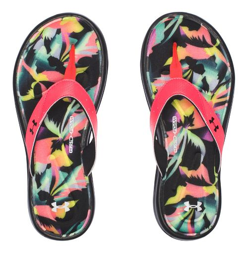 Womens Under Armour Marbella Floral V T Sandals Shoe - Black 8