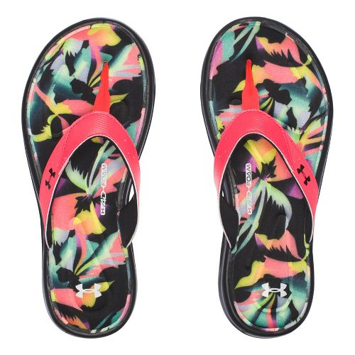 Womens Under Armour Marbella Floral V T Sandals Shoe - White 12