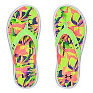 Womens Under Armour Marbella Floral V T Sandals Shoe - Lime Light 9