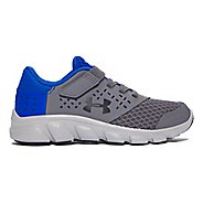 Kids Under Armour Rave RN AC Running Shoe - Graphite/Blue 11C