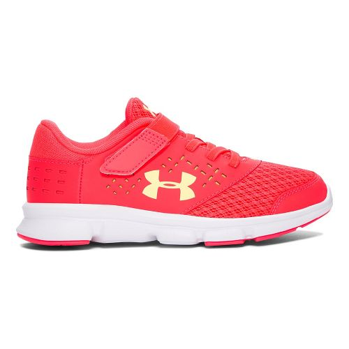 Under Armour Rave RN AC  Running Shoe - Coral/Yellow 3Y