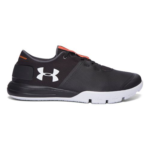 Mens Under Armour Charged Ultimate TR 2.0 Cross Training Shoe - Black/White 8.5
