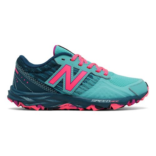 Kids New Balance 690v2 Trail Running Shoe - Teal/Pink 11.5C