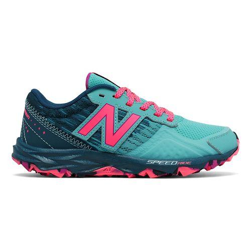 Kids New Balance 690v2 Trail Running Shoe - Teal/Pink 12.5C