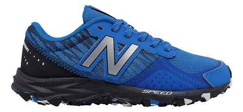Kids New Balance 690v2 Trail Running Shoe - Blue/Black 3.5Y