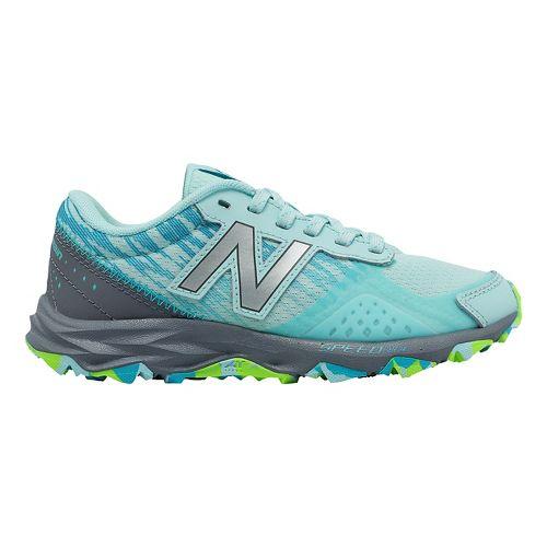 Kids New Balance 690v2 Trail Running Shoe - Mint/Grey 3.5Y