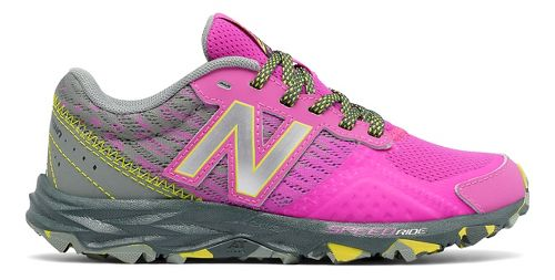 Kids New Balance 690v2 Trail Running Shoe - Pink/Grey 10.5C