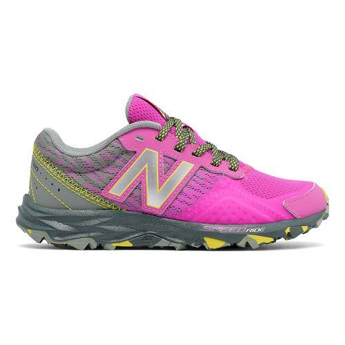 Kids New Balance 690v2 Trail Running Shoe - Pink/Grey 5.5Y