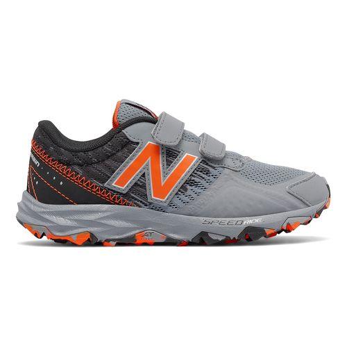 Kids New Balance 690v2 Trail Running Shoe - Grey/Orange 4.5Y