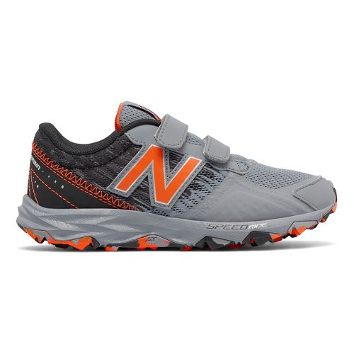 Kids New Balance 690v2 Trail Running Shoe - Grey/Orange 6.5Y