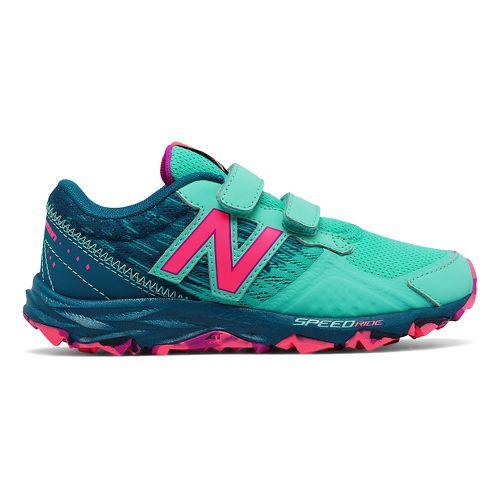 Kids New Balance 690v2 Trail Running Shoe - Teal/Pink 13C