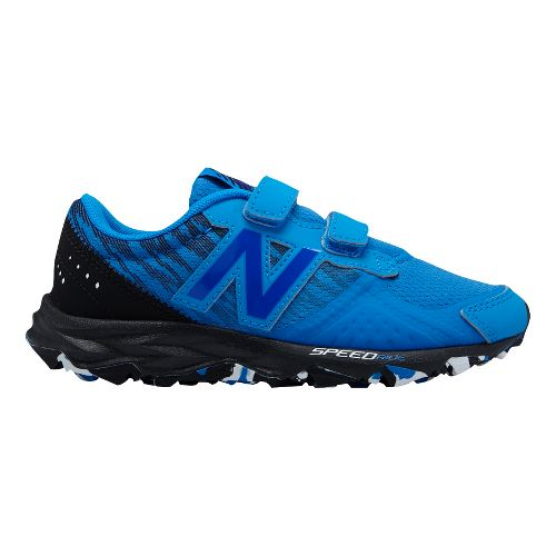 Kids New Balance 690v2 Trail Running Shoe - Blue/Black 12C