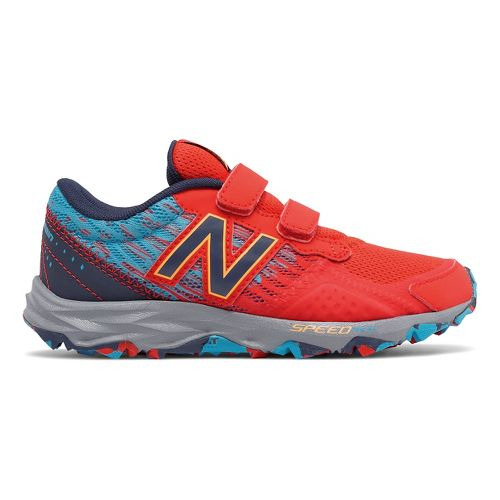 Kids New Balance 690v2 Trail Running Shoe - Red/Blue 3.5Y