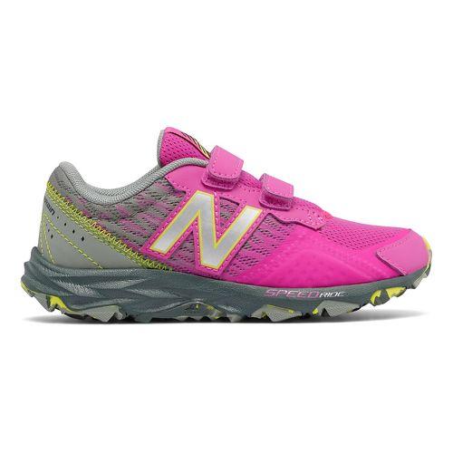 Kids New Balance 690v2 Trail Running Shoe - Pink/Grey 12C
