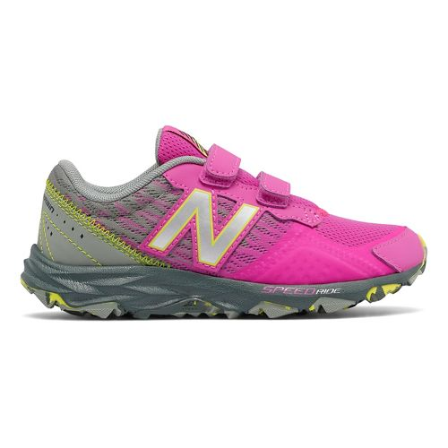 Kids New Balance 690v2 Trail Running Shoe - Pink/Grey 6.5Y