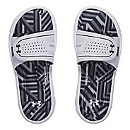 Womens Under Armour Ignite Maze VIII SL Sandals Shoe - Black/White 12