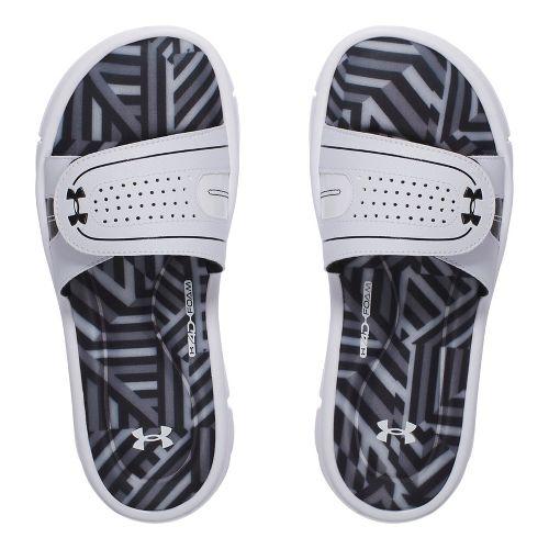Womens Under Armour Ignite Maze VIII SL Sandals Shoe - Black/White 9