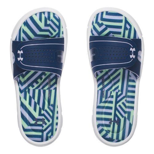 Womens Under Armour Ignite Maze VIII SL Sandals Shoe - White/Navy 10