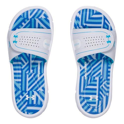 Womens Under Armour Ignite Maze VIII SL Sandals Shoe - White/Blue 7