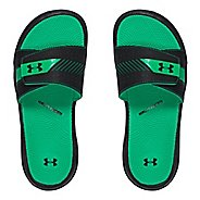Womens Under Armour  Micro G EV III SL Sandals Shoe - Black/Green 7