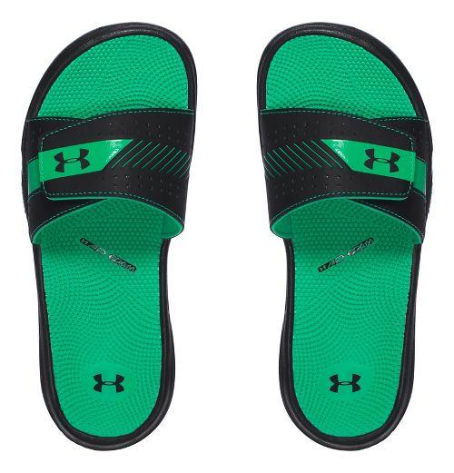 Womens Under Armour  Micro G EV III SL Sandals Shoe - Black/Green 11