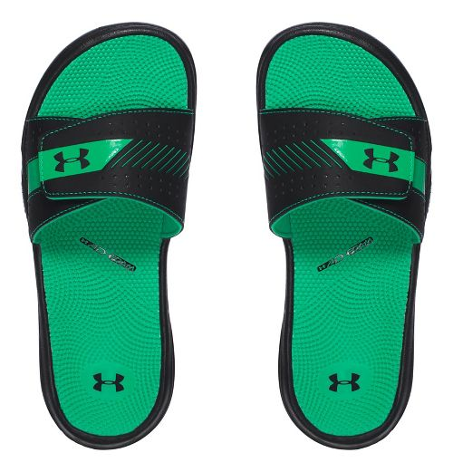 Womens Under Armour  Micro G EV III SL Sandals Shoe - Black/Green 12