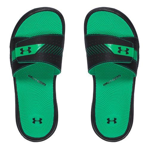 Womens Under Armour  Micro G EV III SL Sandals Shoe - Black/Green 10