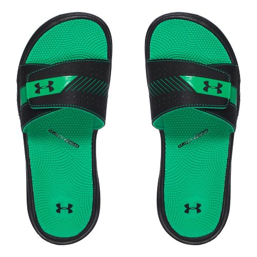 Womens Under Armour  Micro G EV III SL Sandals Shoe - Black/Green 9