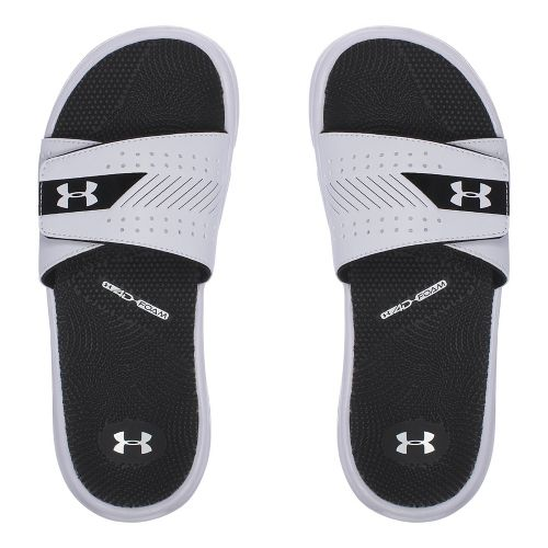 Womens Under Armour  Micro G EV III SL Sandals Shoe - White/Black 8