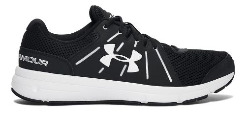 Mens Under Armour Dash RN 2  Running Shoe - Black/White 10.5