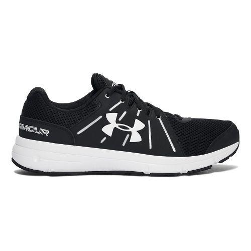 Mens Under Armour Dash RN 2 Running Shoe - Black/White 9.5