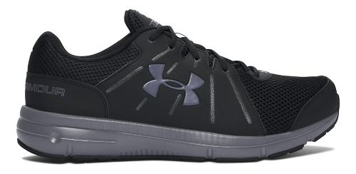 Mens Under Armour Dash RN 2  Running Shoe - Black/Grey 14