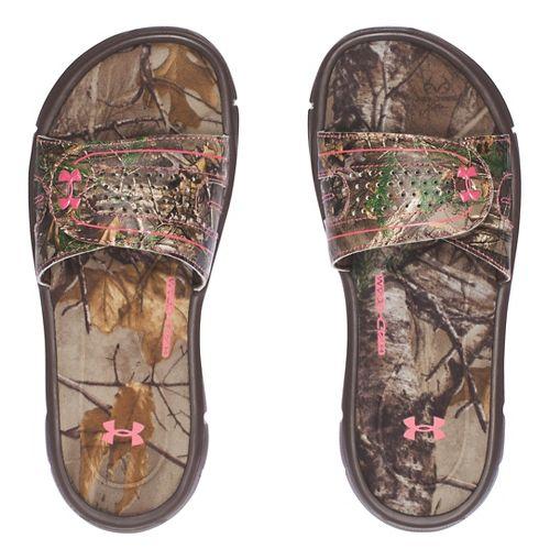 Under Armour Ignite Camo VIII SL Sandals Shoe - Cleveland Brown 3Y