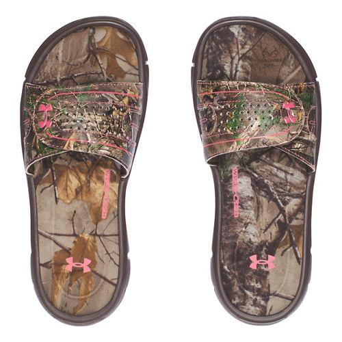 Under Armour Ignite Camo VIII SL Sandals Shoe - Cleveland Brown 1Y