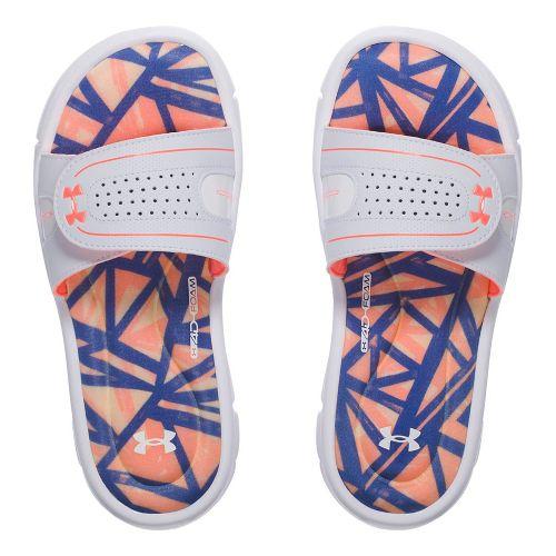 Under Armour Ignite Diverge VIII SL Sandals Shoe - White/Orange 5Y