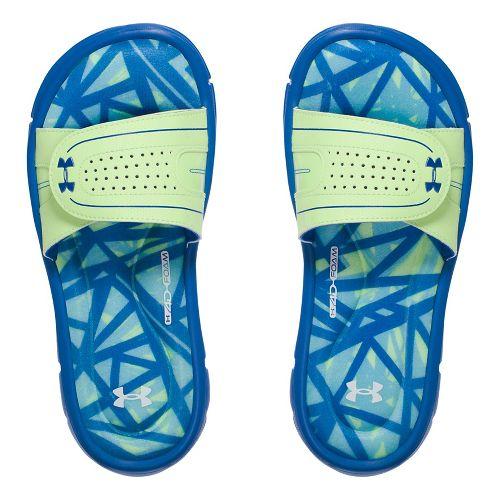 Under Armour Ignite Diverge VIII SL Sandals Shoe - Blue/Lime 3Y