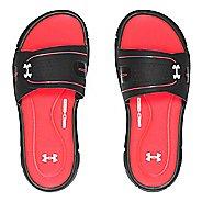 Under Armour Ignite VIII SL Sandals Shoe - Black/Coral 5Y